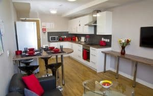shared kitchen at the mews