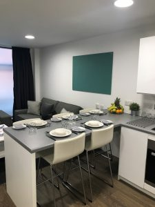 kitchen dining in show flat