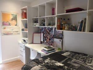 study area in en-suite bedroom