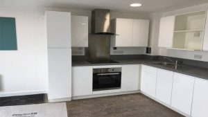 fitted shared kitchen