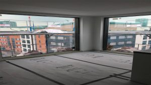large window in shared living area