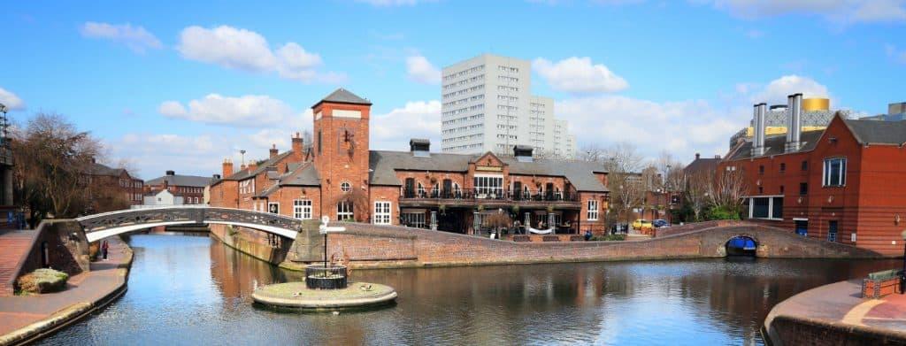 Canal side in Birmingham