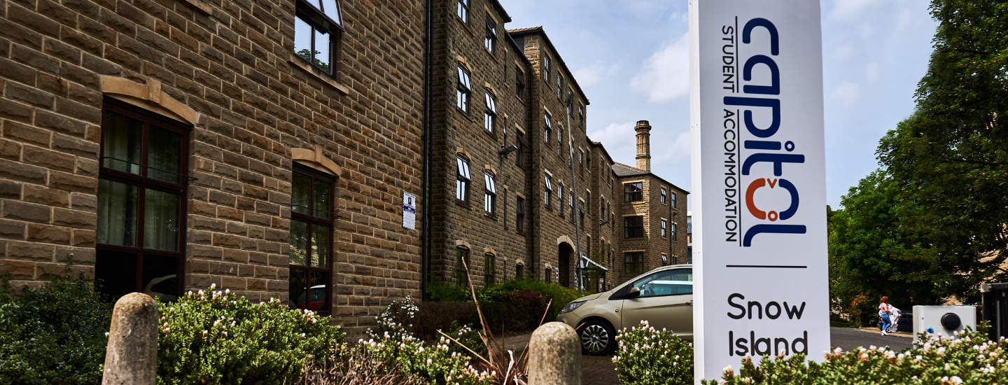 Getting to university from Snow Island is no hassle at all. Take the scenic route by crossing the bridge over the River Colne, and you'll find yourself at the University of Huddersfield in less than five minutes.