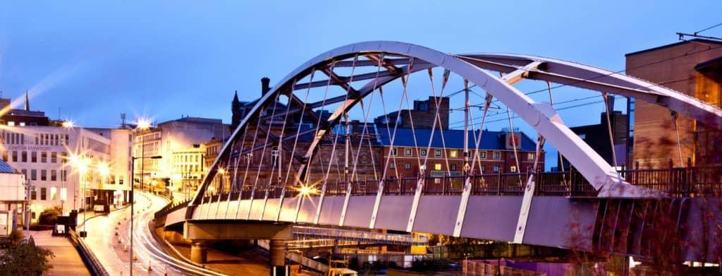 tram bridge in Sheffield