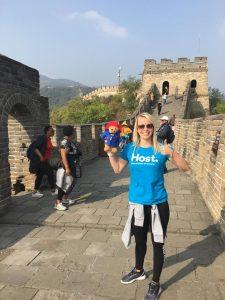 paddington bear watchtower wall in Beijing
