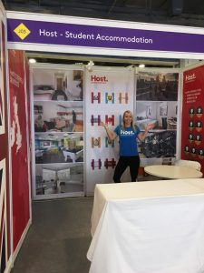 setting up host stand China Education Expo CEE