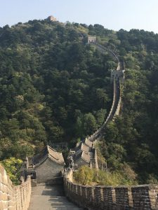 view of great wall in Beijing