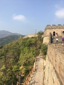 view of wall and mountains in Beijing