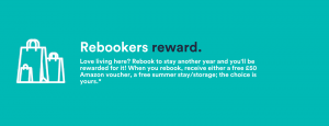 Rebookers reward - plymouth