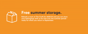 free summer storage - check the croft terms and conditions