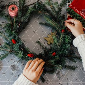 Christmas Wreath Making for a zero waste Christmas