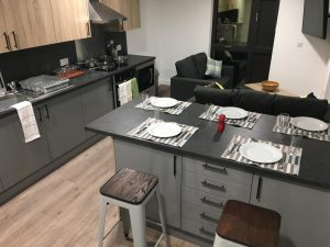 cluster flat kitchen