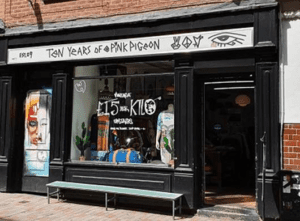 Pink Pigeon – Into your vintage clothing? Then head to Silver Street and Pink Pigeon. You'll find no end of vintage Men and women's clothing from every corner of the world.