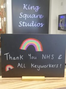 Thank You NHS & Key workers chalk board