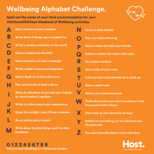 Wellbeing Alphabet Challenge