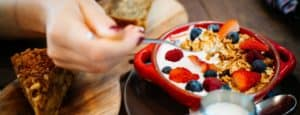 healthy breakfast to look after health and wellbeing