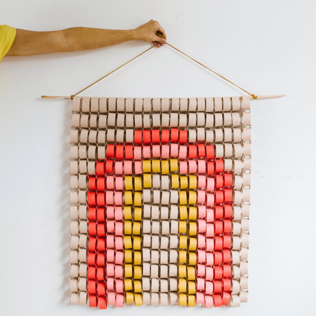 CreativeThursdays NHS Rainbow Art - Paper Chain Rainbow Wall Hanging