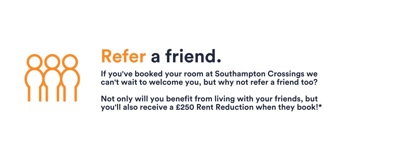 southampton crossings refer a friend £250 rent reduction