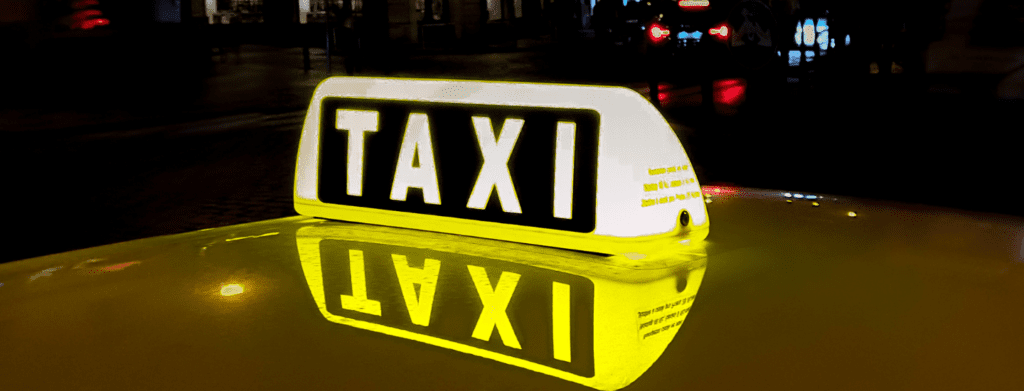 top tips for staying safe - taxi