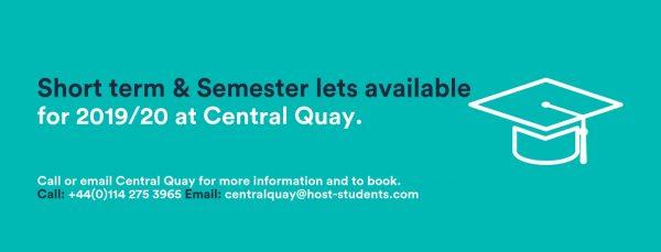 short term & semester lets central quay