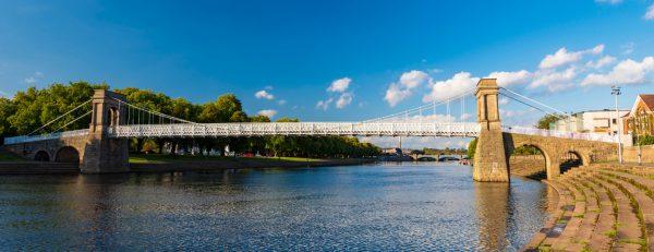 Wilford Suspension Bridge in Nottingham