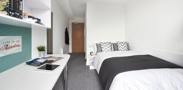 Host The Glassworks Standard En-suite DMU student room in Leicester