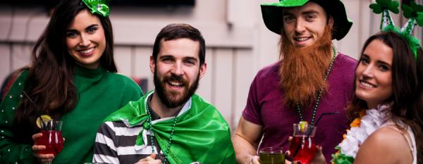 Friends celebrating St Patrick