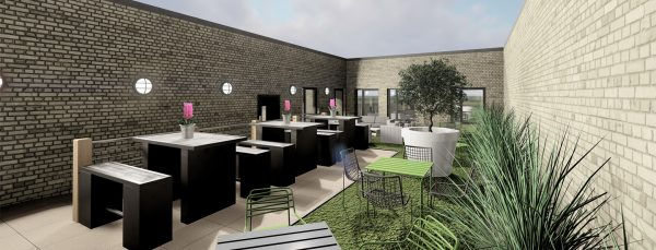 Host Southampton Crossings - Student Accommodation in Southampton roof terrace