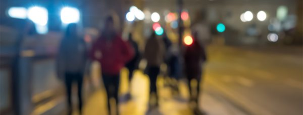 staying safe - people walking at night