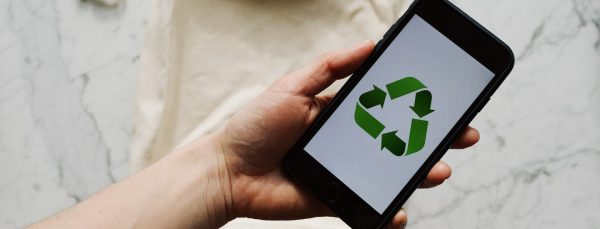 recycle-symbol-on-mobile-phone-eco-friendly-app