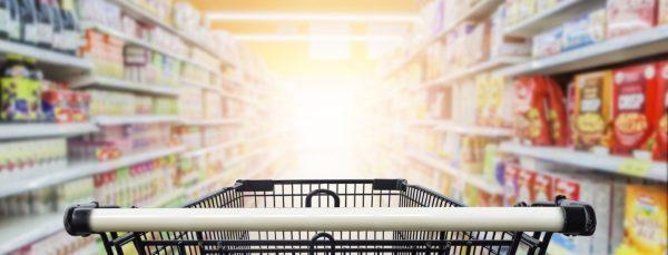 supermarket-trolley-in-aisle