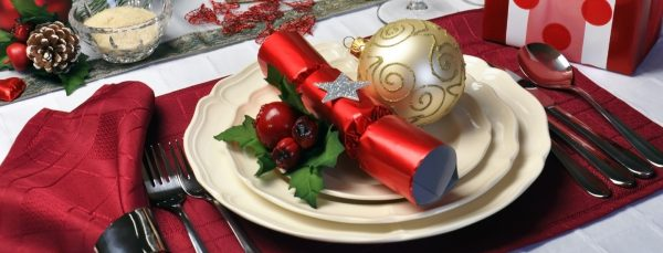 christmas dinner place mat at table