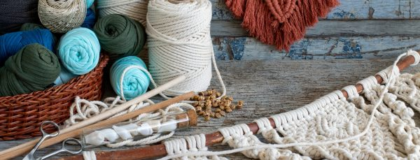 creative crafts making macrame with recycled items