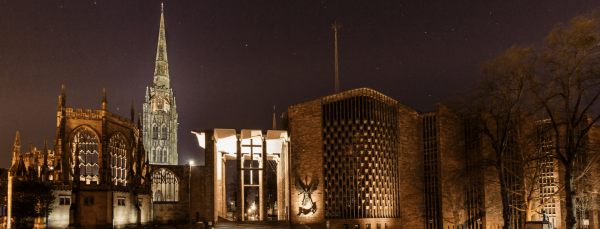 coventry cathedral night view for city page