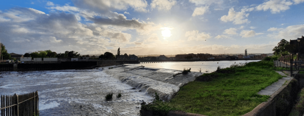 exeter river exe trews weir for city page